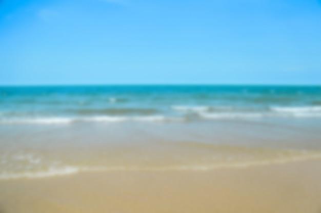 Пляж синий океан и небо