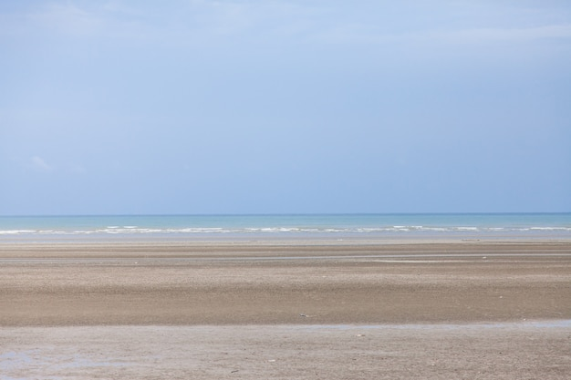 Beach and blue sky, sea and sky.