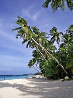 Beach on boracay island in philippines