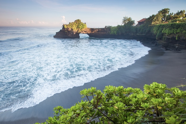Beach and cliff of bali , indonesia