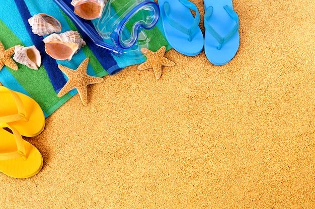 모래 해변 요소