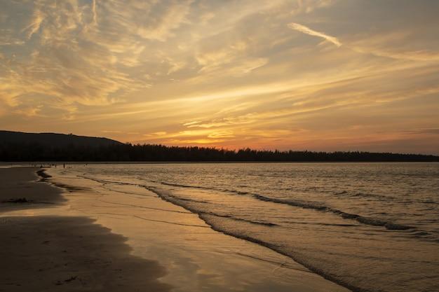 Beach, evening sea in thailand