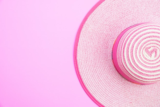 Beach hat for summer holiday and vacation concept.
