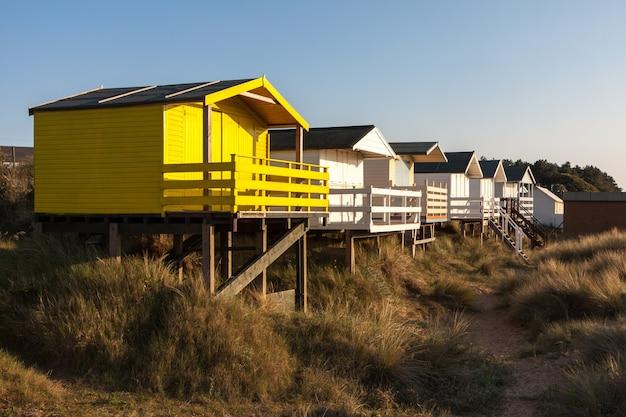 2010년 6월 2일 hunstanton norfolk의 해변 오두막