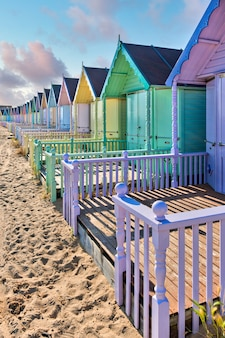 ウェストマーシーのビーチ小屋