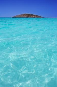Beach illetas illetes in formentera near ibiza