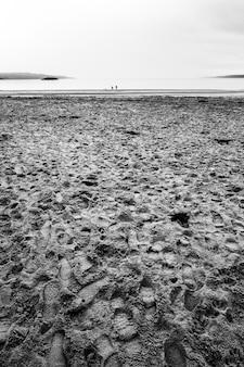 黒と白のビーチ