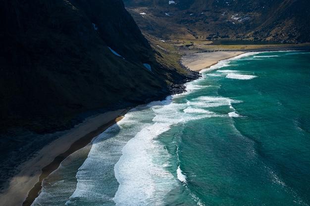 ロフォーテン諸島のビーチ