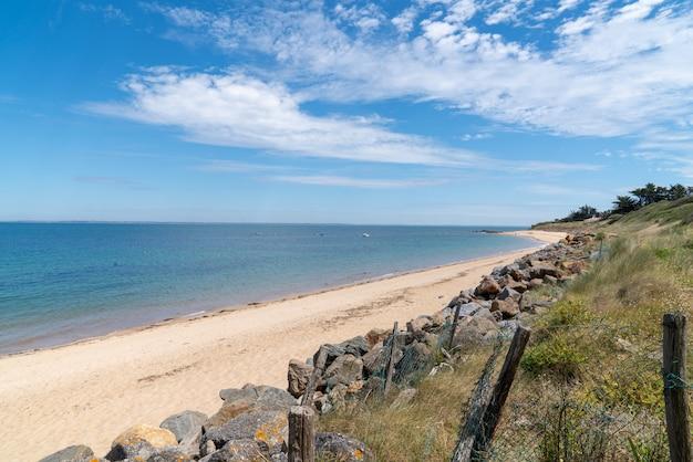 Beach on the island of noirmoutier