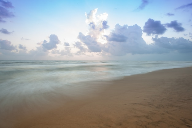 Beach landscape with long exposure