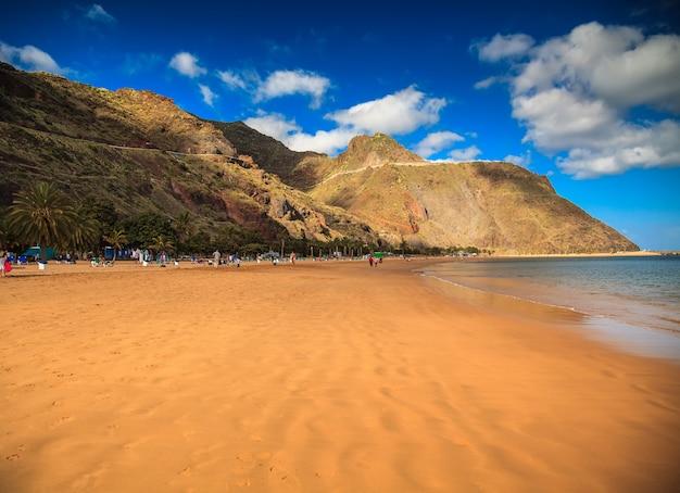 Пляж лас тереситас на тенерифе