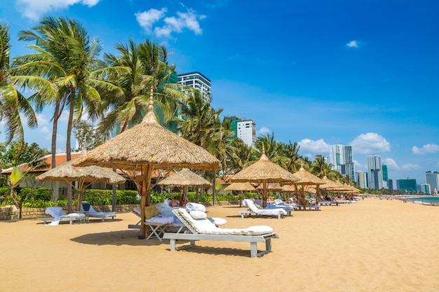 Beach at nha trang, vietnam