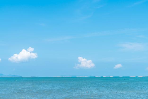 Beach in north pattaya, thailand