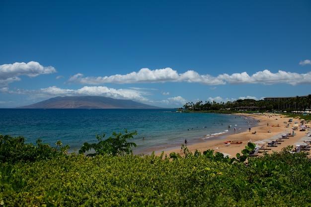 하와이 알로하 마우이 섬의 해변
