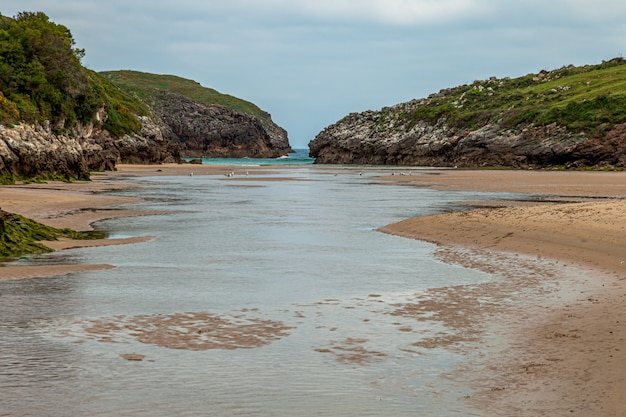 Beach of poo near to llanes village