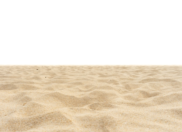 Beach sand isolated on white background