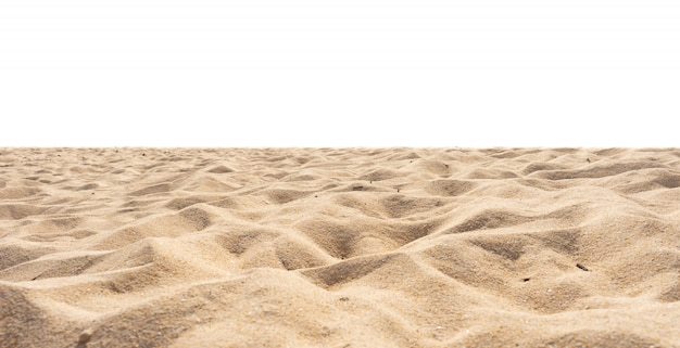 Beach sand, sand texture, di-cut, isolated on white