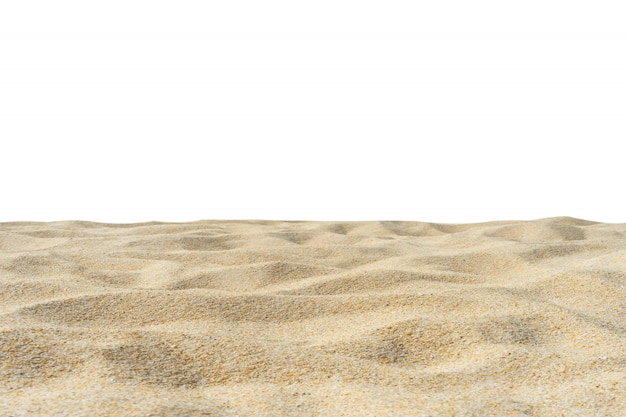 Beach sand texture isolated on white