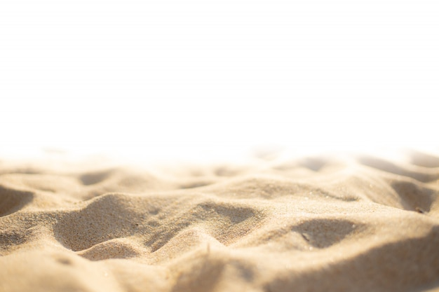 The beach sand texture on white background