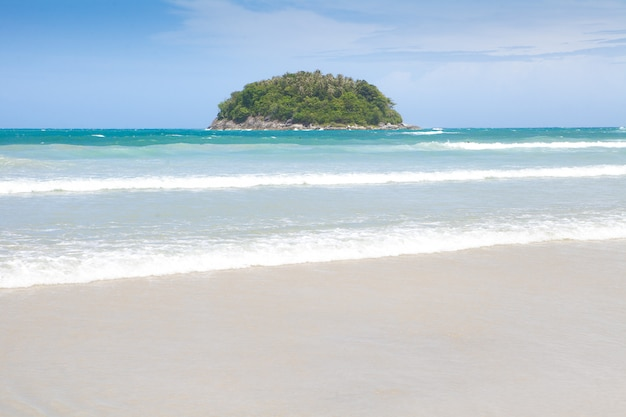Beach and sand in thailand for holiday concept