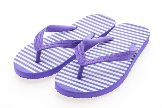 비치 샌들 신발 밝은 흰색