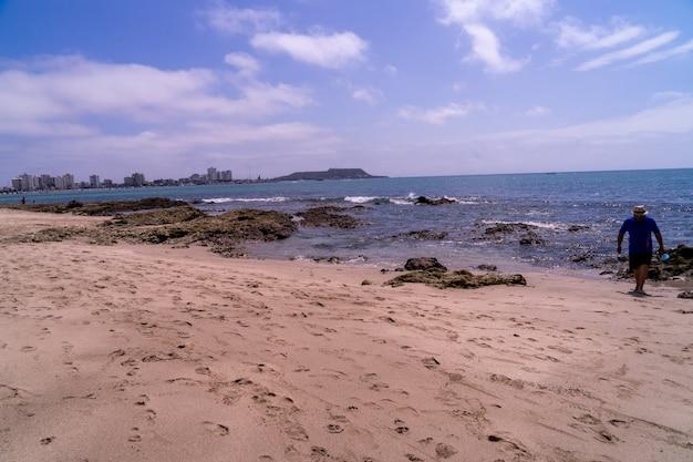 Beach in southern ecuador