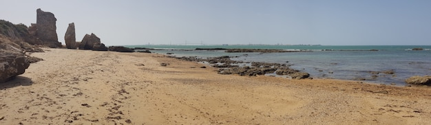 Beach of the wall of puerto sherry