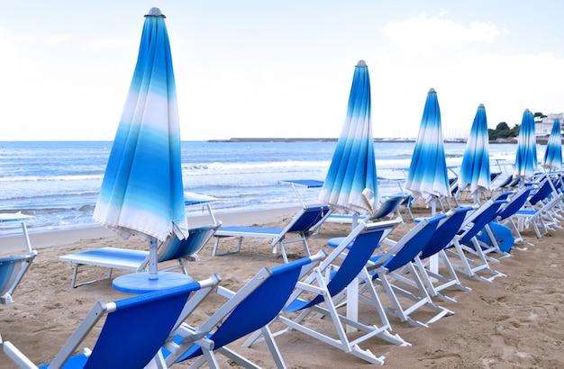 Beach with hammocks