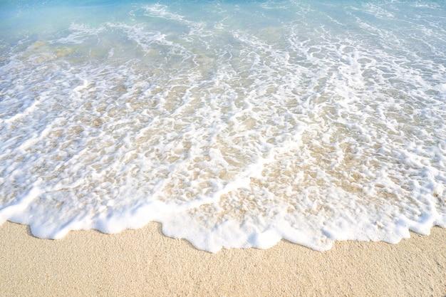 波とビーチ