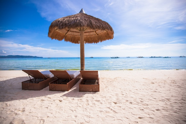 Beach wooden chairs for vacations and summer getaways in boracay