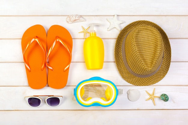 Beachwear and accessories