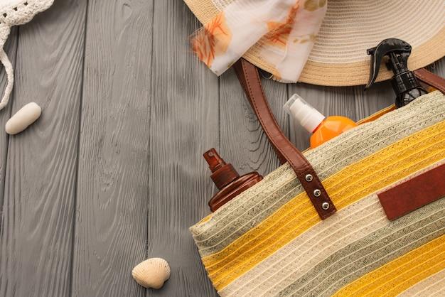 ビーチウェアバッグ日焼け止めサングラス日焼け止めスプレーローションクリームケア日焼け紫外線