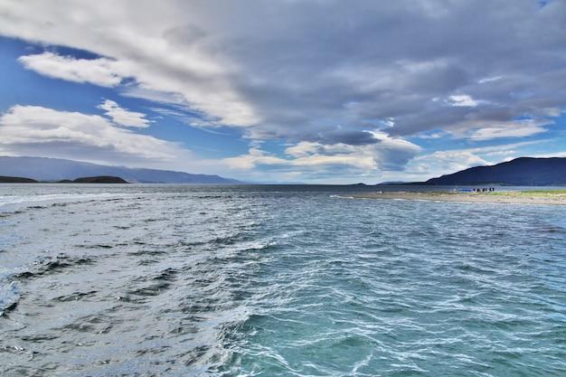 Beagle channel close ushuaia city argentina