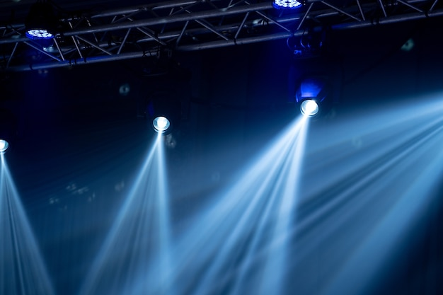 Beam light at indoor party hall, white light is beautiful.