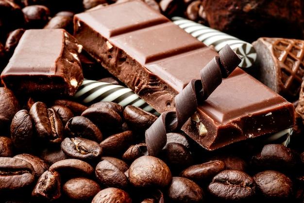 Фасоль, фасоль, черный, коричневый, какао, кафе, кофеин
