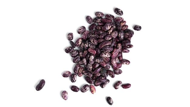 白で分離された豆