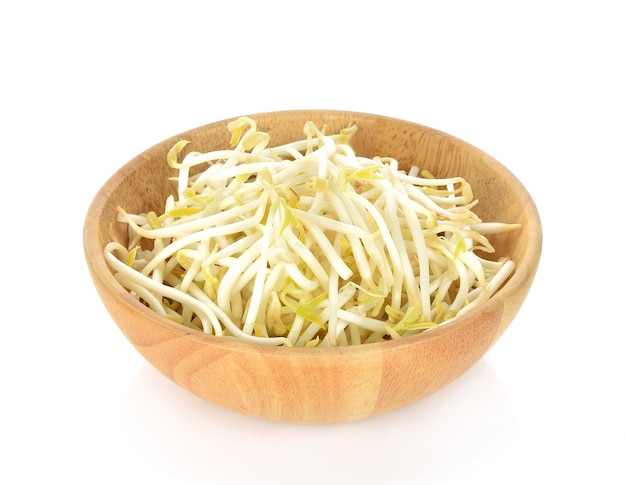 Beansprout  in wooden bowl