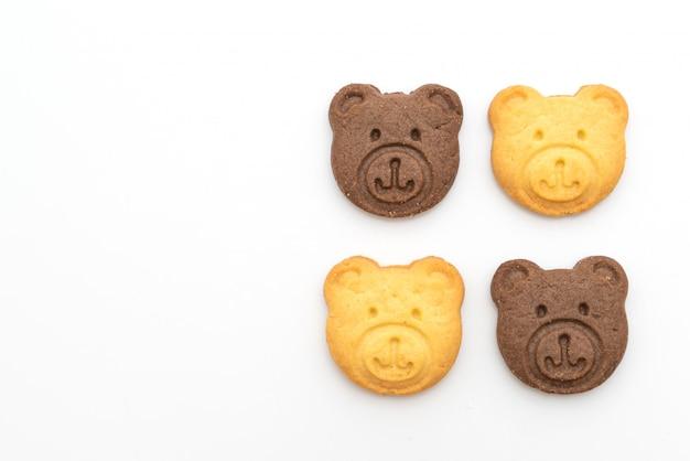 チョコレート風味とバター風味のクマのビスケット