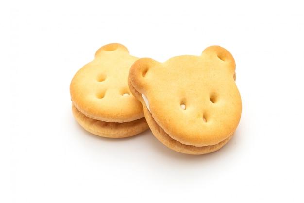 クリームとクマのクッキー