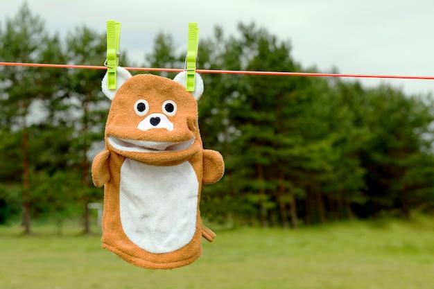 로프 스펀지 장난감에 곰 스폰지