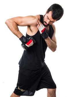 Борода фитнес штанга взрослый человек