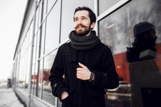 Capelli barba con ritratto di barba