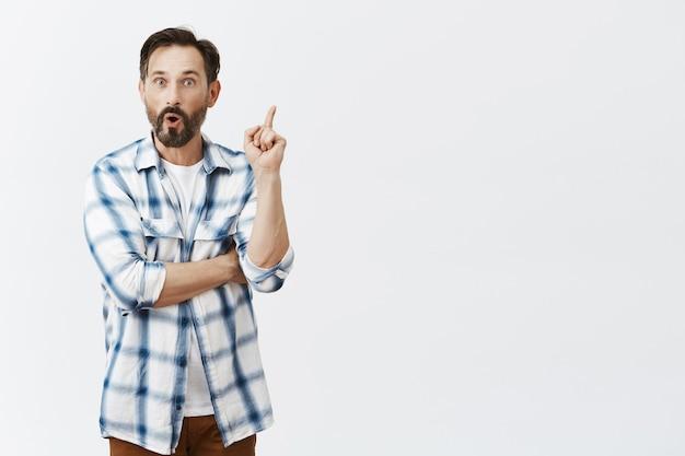Bearded mature man posing