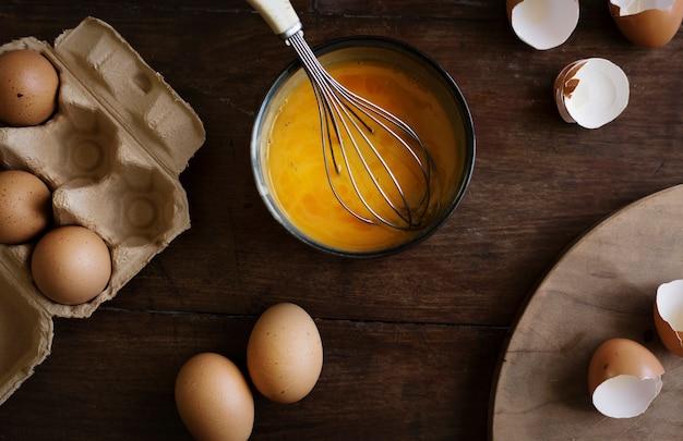 Идея рецепта фотографии еды взбитых яиц