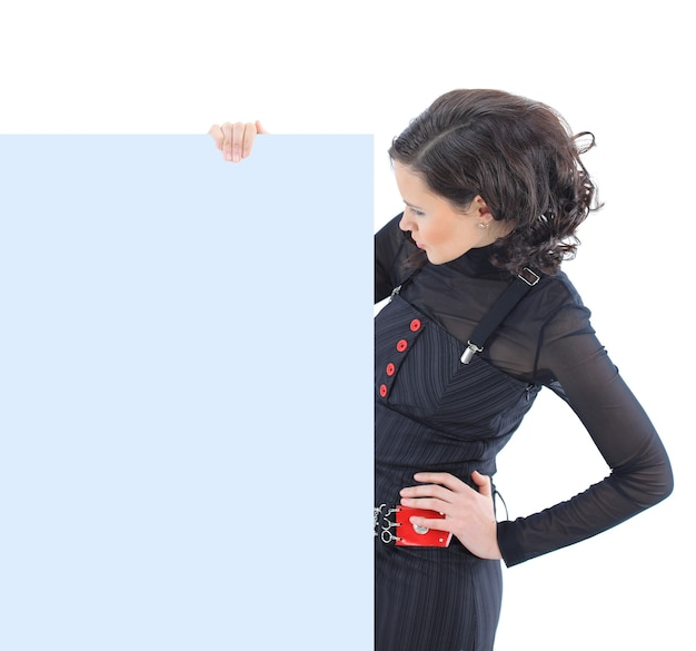 Beatiful business woman  isolated on a white background