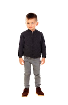 Beatiful child with jeans