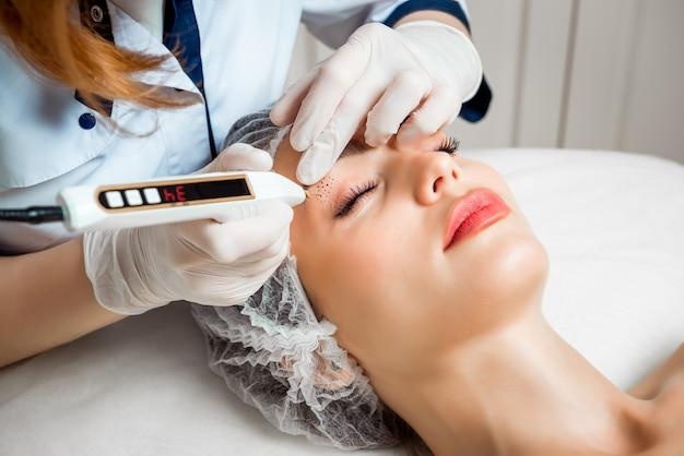 Beautician procedure in a beauty salon