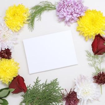 Beautifukバレンタイン本物の花のグリーティングカードlove image