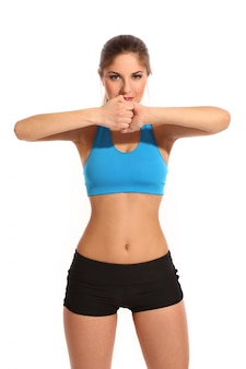 Beautiful active woman in a fitness wear