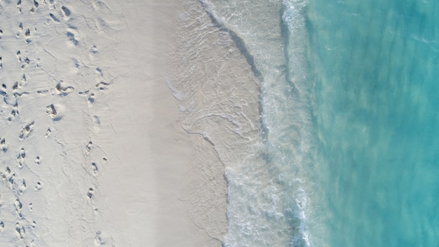 Beautiful aerial view of maldives and tropical beach . travel and vacation concept